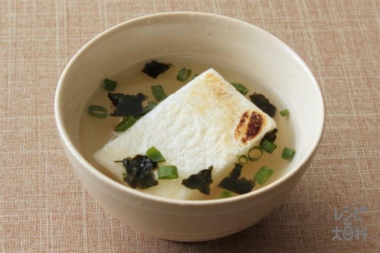 餅入り 丸鶏海苔スープ