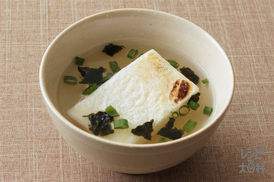 餅入り 丸鶏海苔スープ(切り餅+A湯を使ったレシピ)