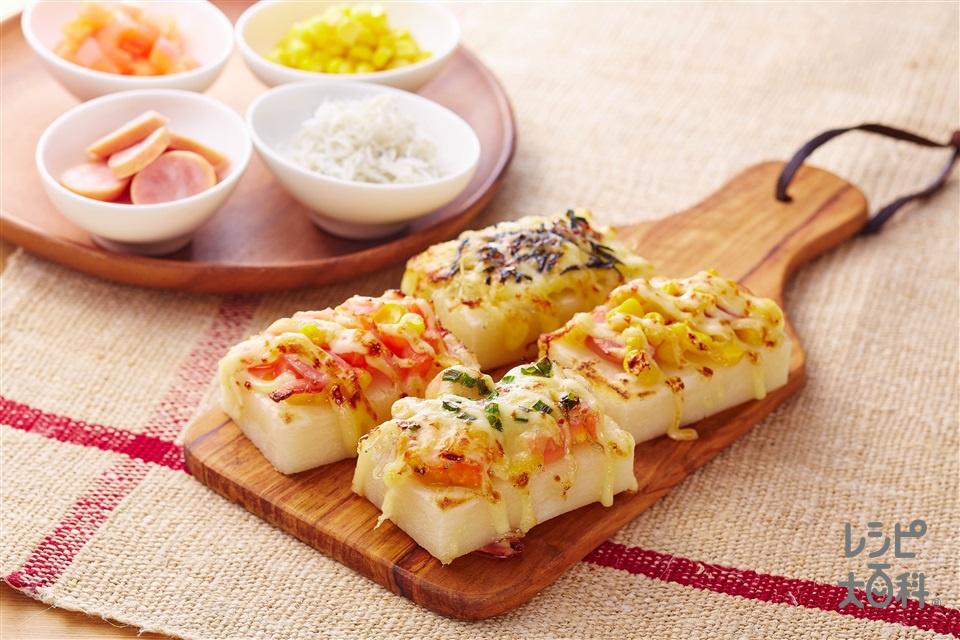 お餅ピザ(切り餅+ホールコーン缶を使ったレシピ)