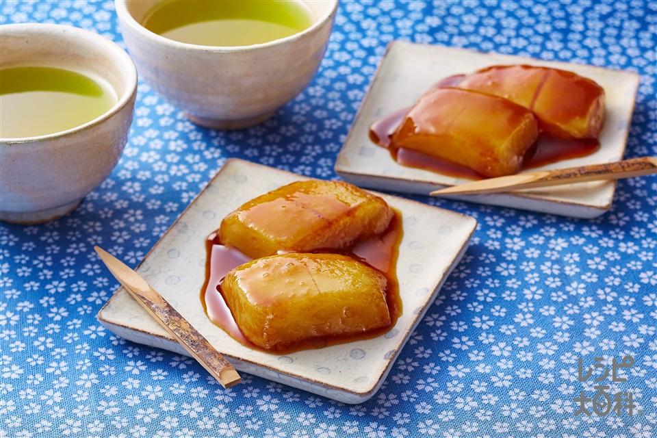 レンチンみたらし餅(切り餅+A水を使ったレシピ)