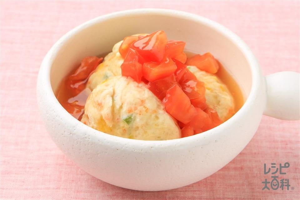 野菜たっぷり鶏だんごのトマトあんかけ