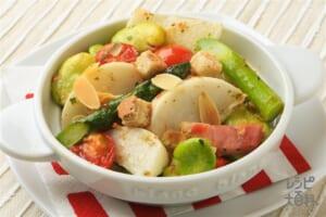 春野菜のペペロンチーノ風トスサラ