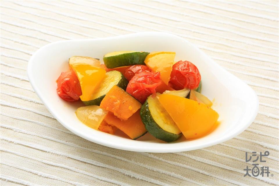 夏野菜の焼きラタトゥイユ(ズッキーニ+ミニトマトを使ったレシピ)