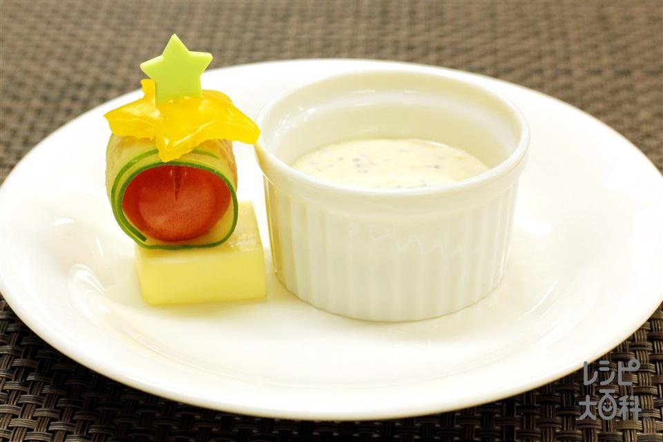 お手軽ピンチョス(きゅうり+ミニトマトを使ったレシピ)
