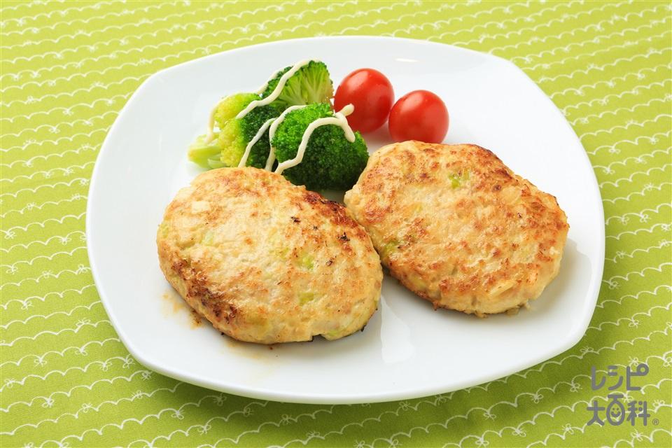 春野菜バーグ(鶏ひき肉+キャベツを使ったレシピ)