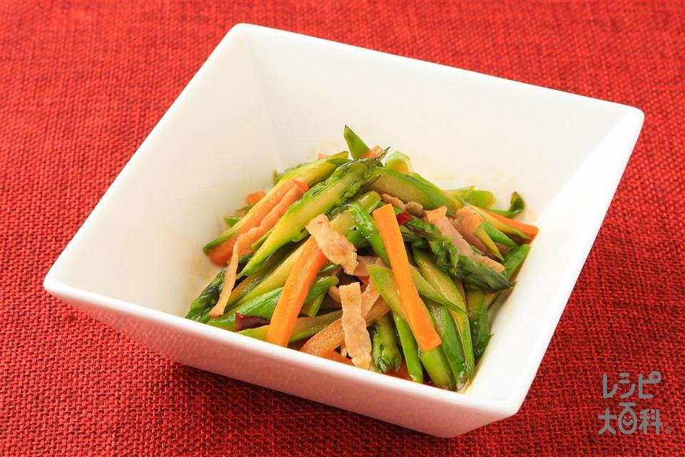 アスパラガスの中華きんぴら(グリーンアスパラガス+にんじんを使ったレシピ)