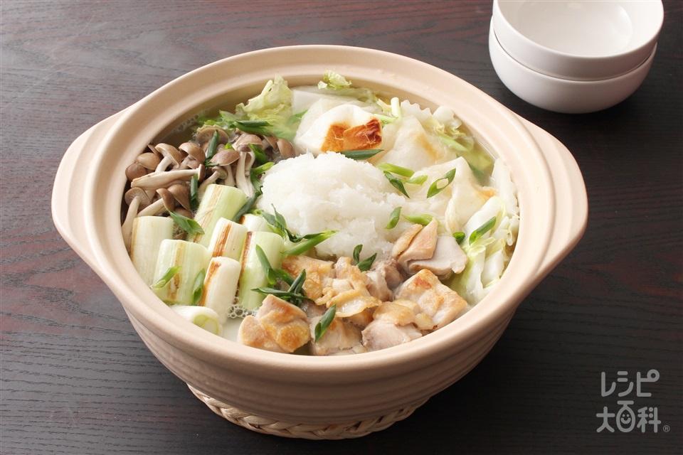 みぞれ鍋(鶏だし・うま塩)(白菜+大根おろしを使ったレシピ)