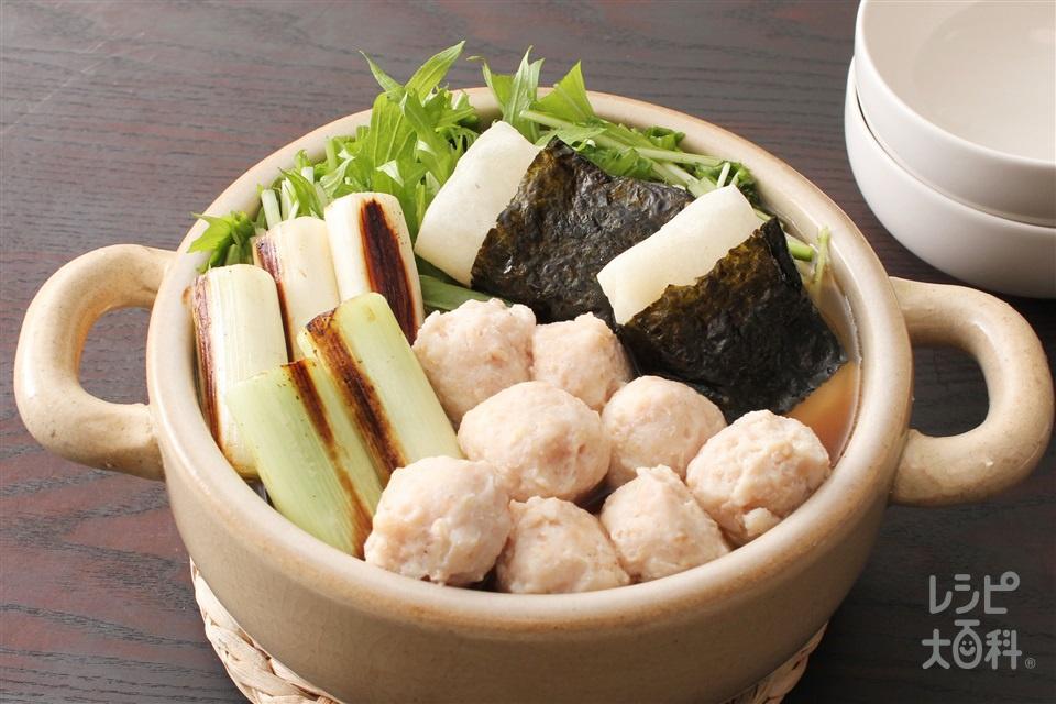 磯辺鍋(寄せ鍋しょうゆ)(水菜+切り餅を使ったレシピ)
