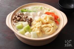 茶巾鍋(まろやか豆乳)