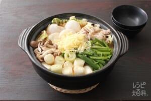 もちチーズ味噌鍋(とんこつ味噌)