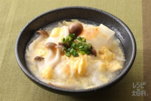 玉子あんかけ餅(鶏だし・うま塩)