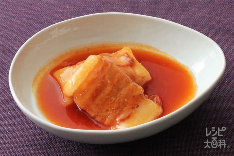 豚肉を巻いた餅の甘辛煮(ピリ辛キムチ)