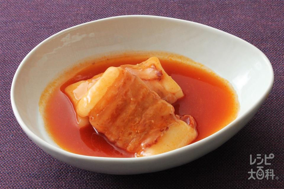 豚肉を巻いた餅の甘辛煮(うま辛キムチ)(切り餅+豚バラ薄切り肉を使ったレシピ)
