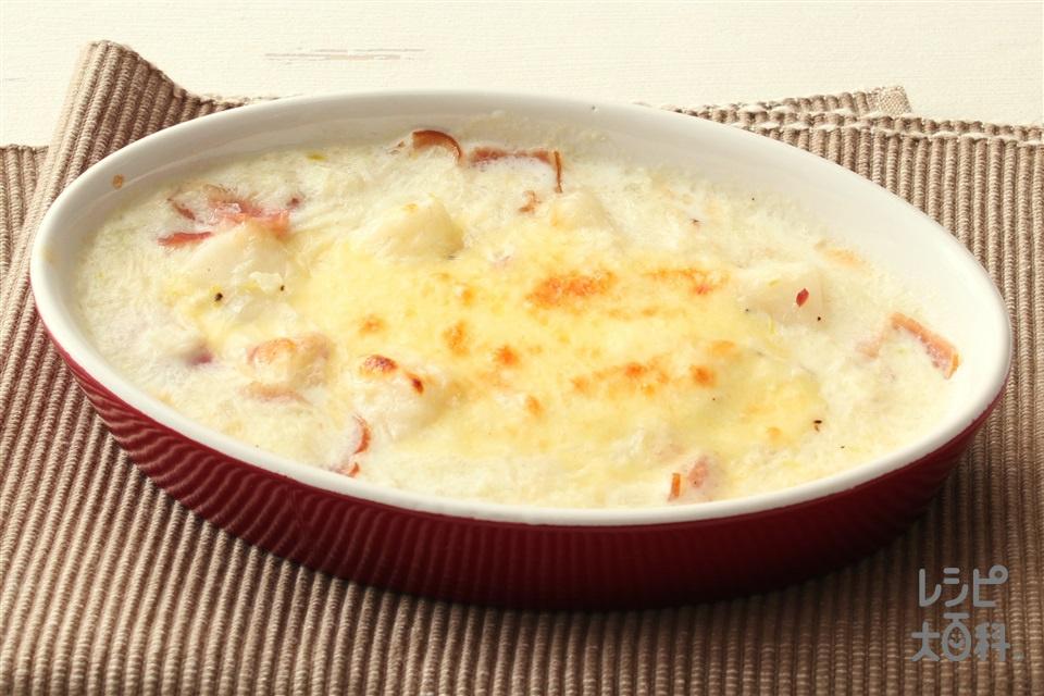 もちグラタン(まろやか豆乳)(切り餅+ベーコンを使ったレシピ)