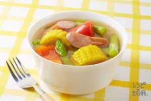 夏がいっぱいスープ野菜