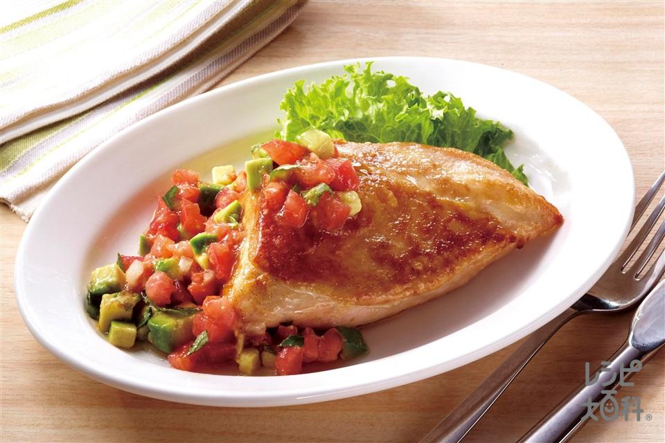 やわらか鶏むねステーキ ケッカソース(鶏むね肉+トマトを使ったレシピ)
