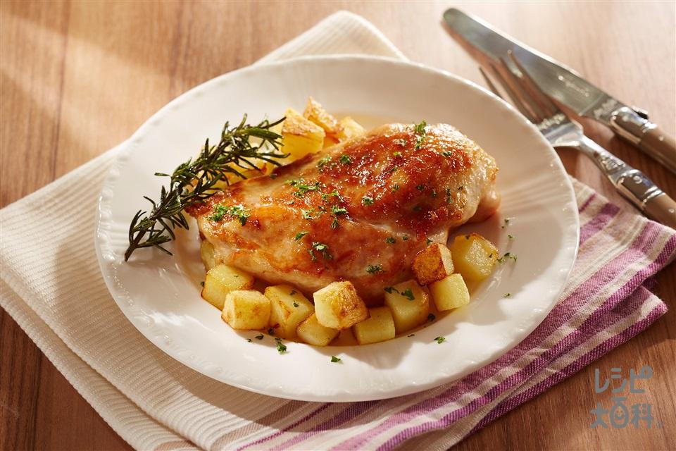 やわらか鶏むねステーキ ハーブ風味(鶏むね肉+じゃがいもを使ったレシピ)