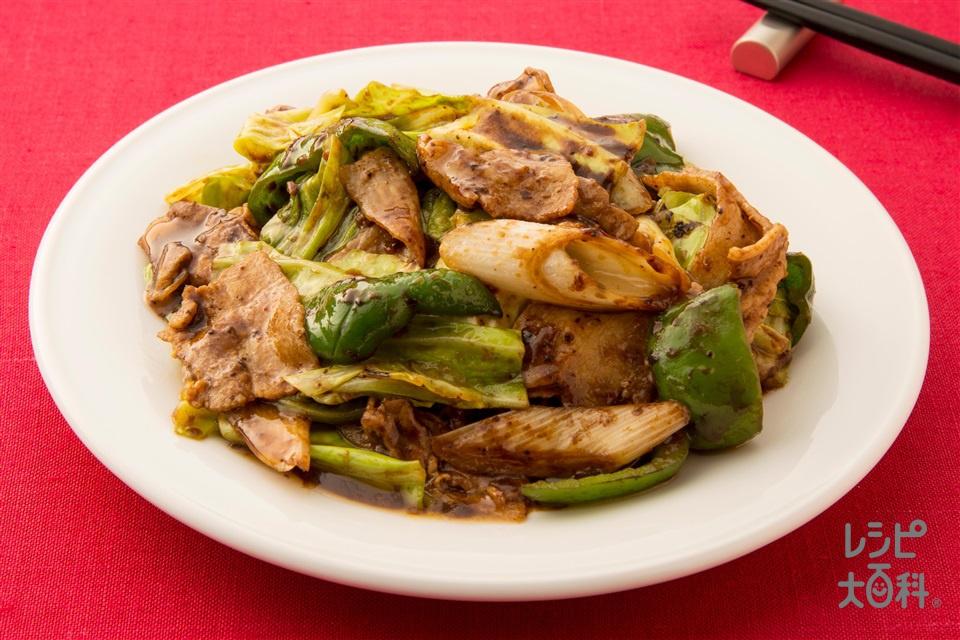 回鍋肉(2人前)(豚バラ薄切り肉+キャベツを使ったレシピ)