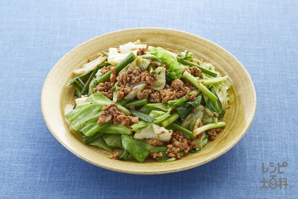 肉みそキャベツ(2人前)(豚ひき肉+キャベツを使ったレシピ)