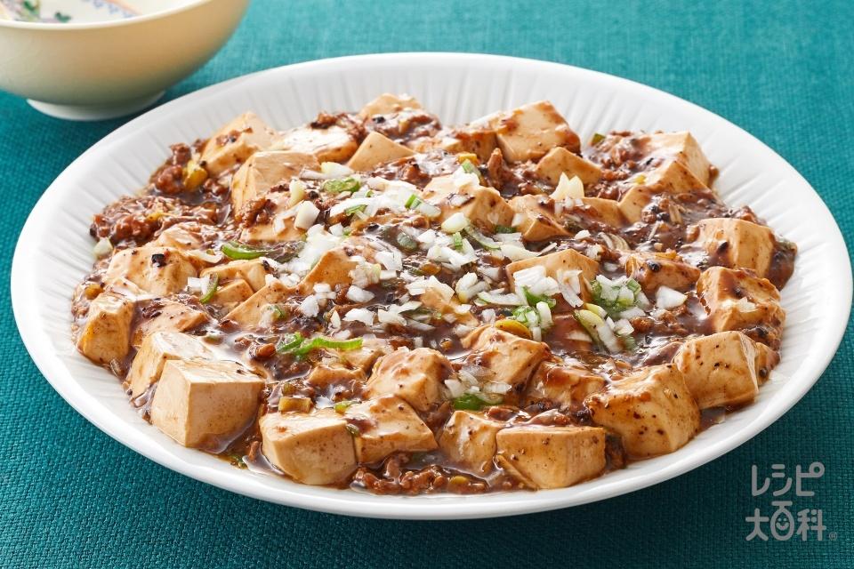 簡単手作り!「黒・麻婆豆腐」(絹ごし豆腐+豚ひき肉を使ったレシピ)