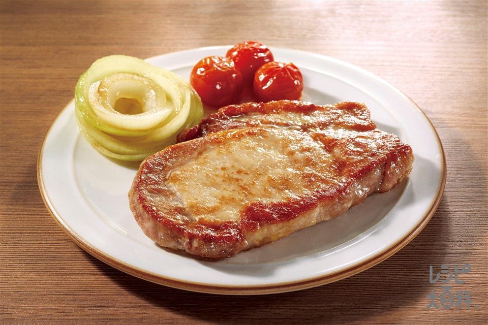 やわらかお肉でポークソテー(豚ロース肉ソテー用+を使ったレシピ)