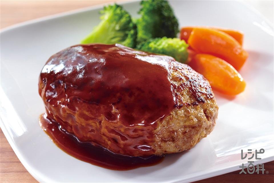肉汁ジュワッと!ハンバーグ(合いびき肉+玉ねぎのみじん切りを使ったレシピ)
