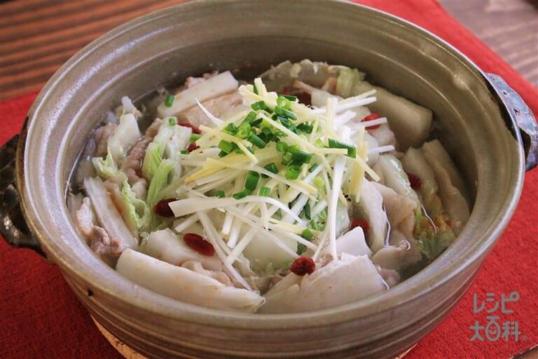 中華風白菜と豚バラ肉の重ね鍋