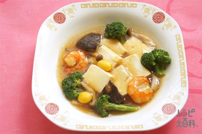えびと豆腐のオイスターソース煮込み