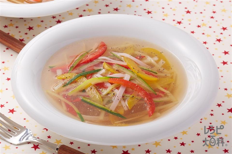 夏の千切りスープ野菜(ズッキーニ+じゃがいもを使ったレシピ)