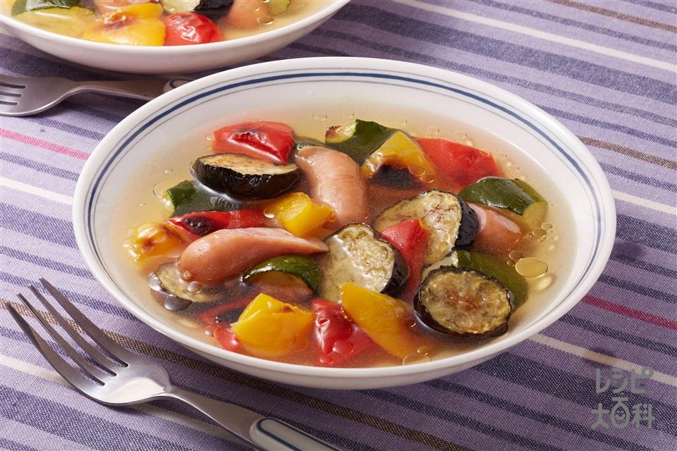 夏の焼きスープ野菜(なす+ズッキーニを使ったレシピ)