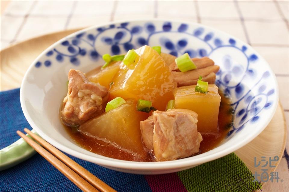 つやつや大根と鶏のやわらか煮(大根+大根の葉を使ったレシピ)