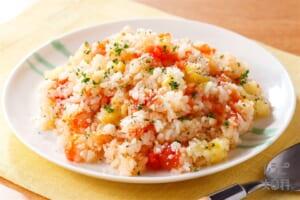 丸ごとトマトの炊き込みピラフ