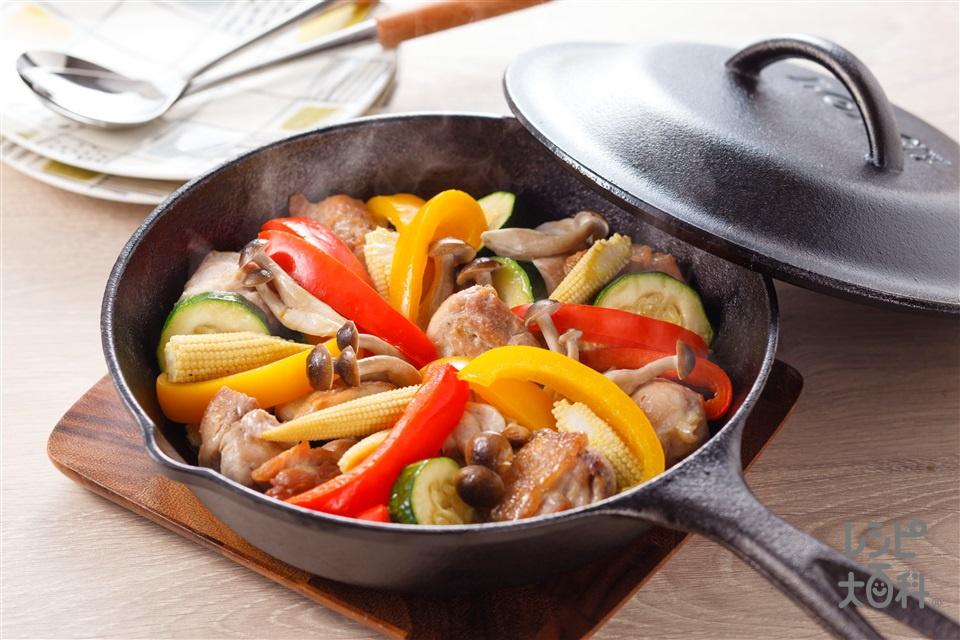 夏野菜のチキングリル(鶏もも肉+ズッキーニを使ったレシピ)