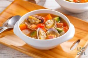 トマトとあさりのごちそうスープ