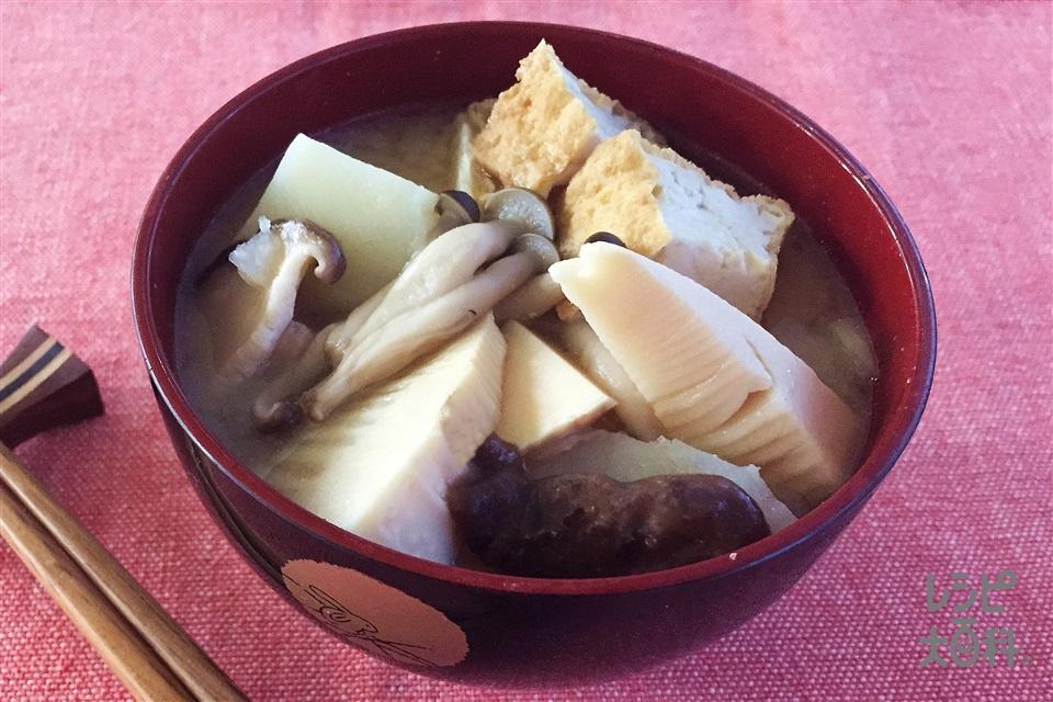 孟宗汁(もうそうじる)(ゆでたけのこ+じゃがいもを使ったレシピ)