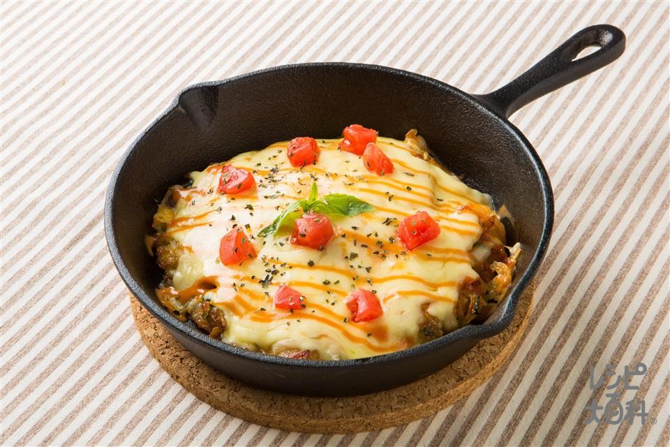 ピザ風お好み焼き(白菜+薄力粉を使ったレシピ)