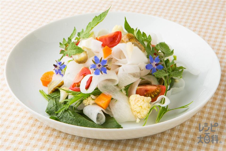ギリシャ風マリネと大根パスタのサラダ(大根+カリフラワーを使ったレシピ)