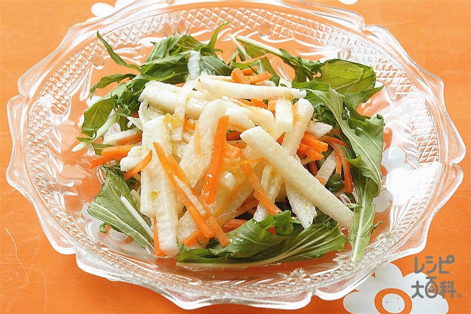 長芋と水菜のサラダ