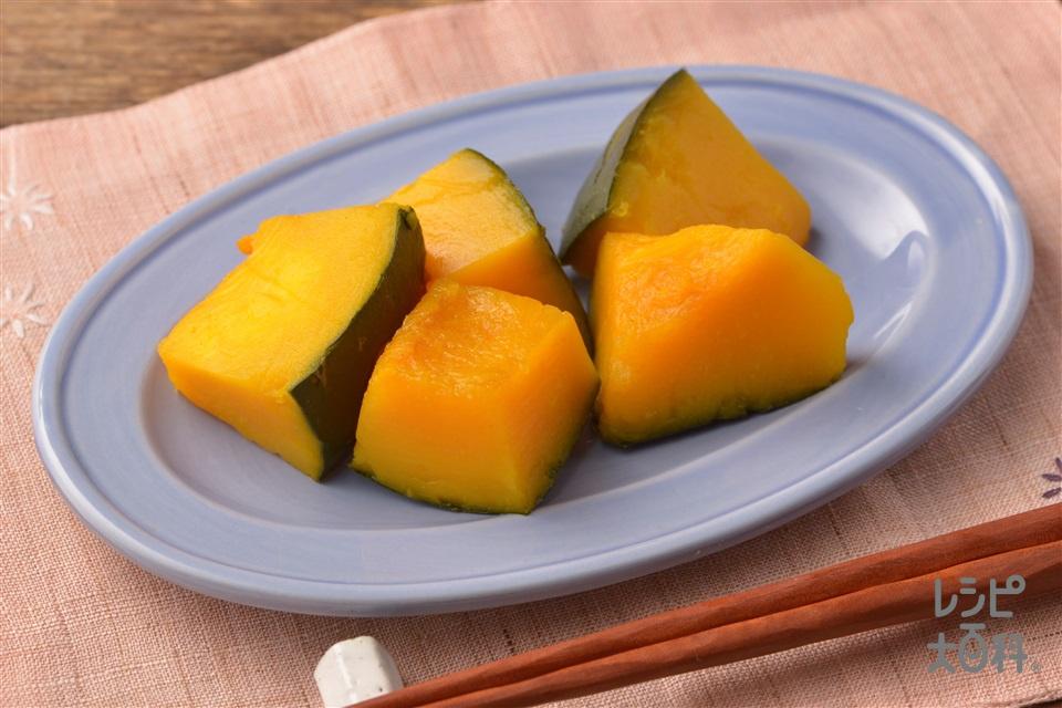 時短!かぼちゃのレンジ煮(かぼちゃ+を使ったレシピ)