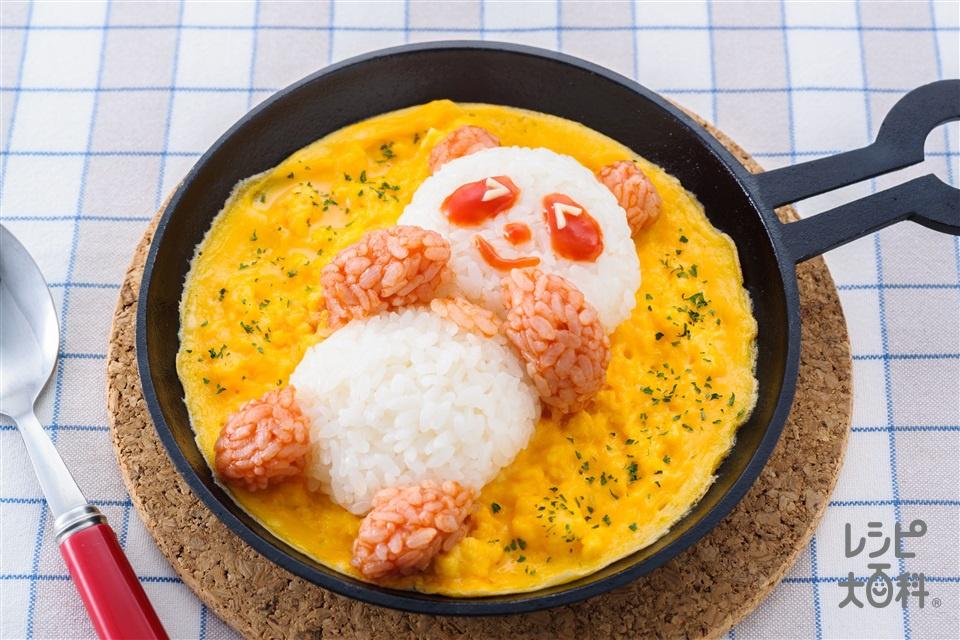 「アジパンダ」Cooking☆巻かないオムライス(ご飯+卵を使ったレシピ)