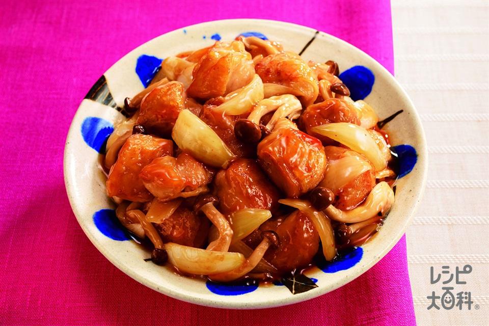 鶏肉と玉ねぎの甘酢あん(鶏もも肉+玉ねぎを使ったレシピ)