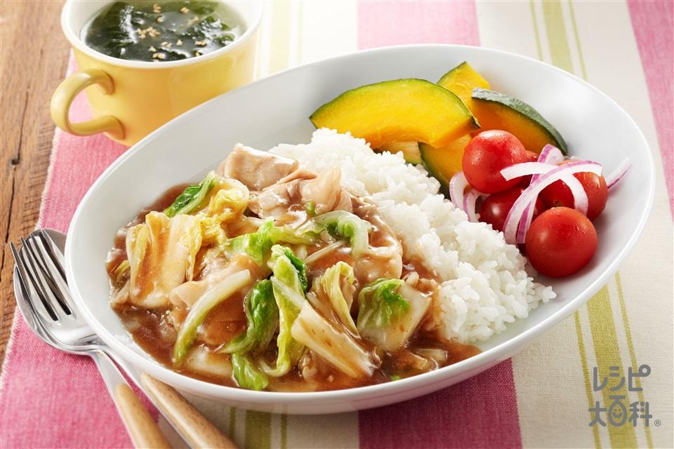 豚バラ白菜プレート(白菜+ご飯を使ったレシピ)