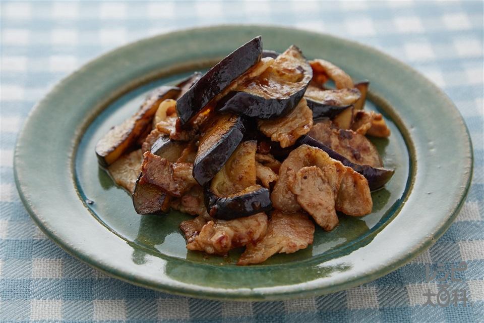 豚バラなすの味噌炒め(なす+豚バラ薄切り肉を使ったレシピ)