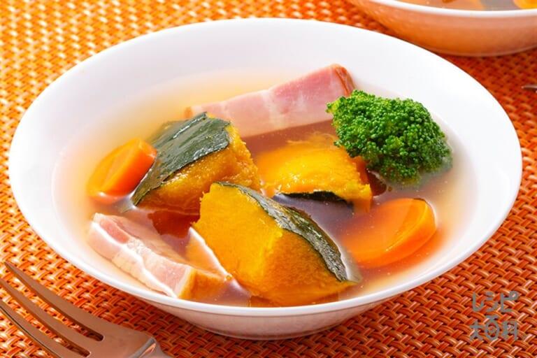 かぼちゃゴロっとスープ野菜