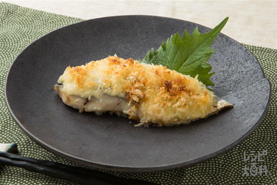 魚のわさびマヨパン粉焼き