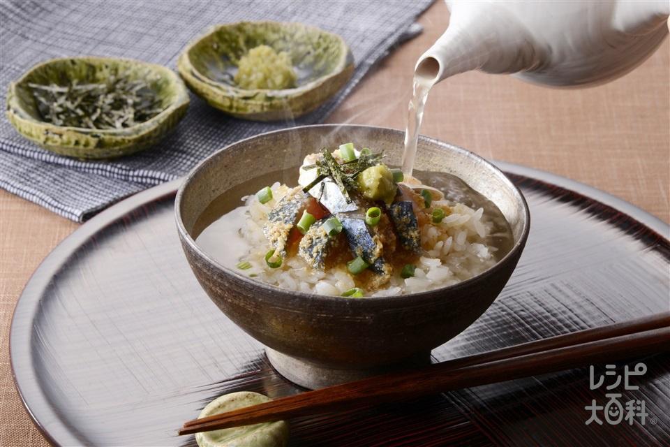 ごま鯖のあごだし茶漬け(ご飯+さばを使ったレシピ)