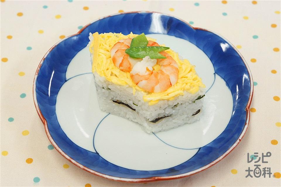 ヘルシー押し寿司(米+糸こんにゃくを使ったレシピ)