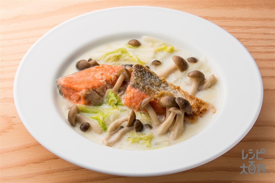 鮭と白菜のミルク煮(白菜+牛乳を使ったレシピ)