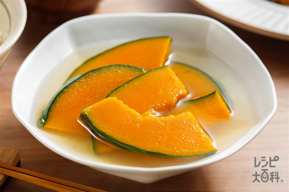かぼちゃのだし煮(かぼちゃ+A水を使ったレシピ)