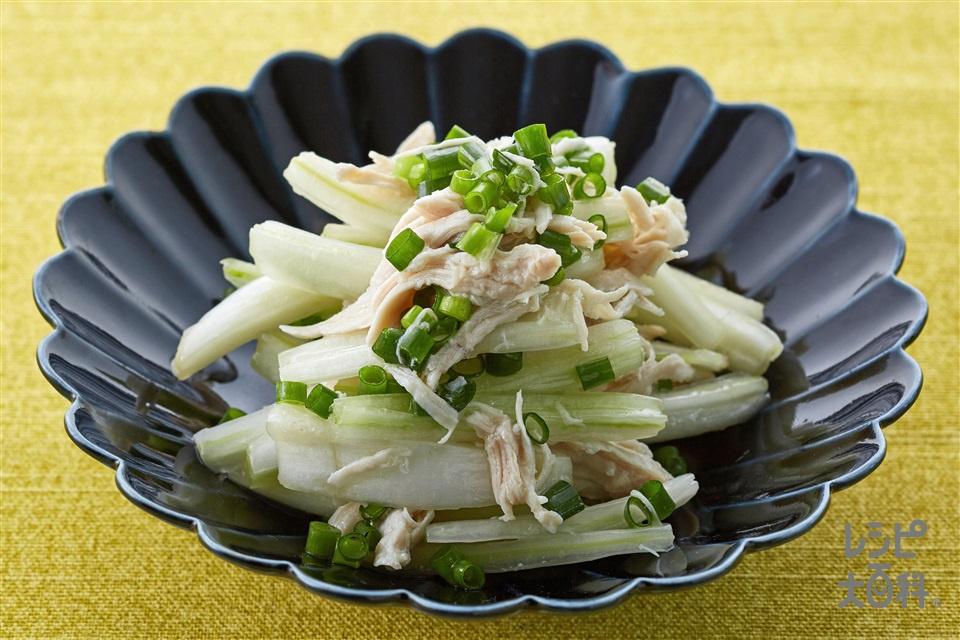 白菜とささみのおかずナムル(白菜の芯+鶏ささ身を使ったレシピ)